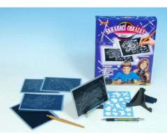 Škrábací obrázek stříbrný 15x10cm - 6ks v krabičce
