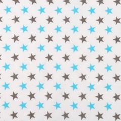 Dětské povlečení 2 dílné TYRKYS HVĚZDA  135 x 100 cm