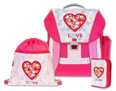Školní batohový set Love 3-dílný, Emipo