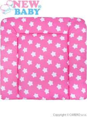 Bavlněná přebalovací podložka 70x65 New Baby hvězdičky růžová