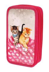 Školní penál 3-patra prázdný CATS & MICE, Emipo