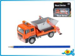Auto nákladní kontejnerové kov se světlem a zvukem na zpětné natažení