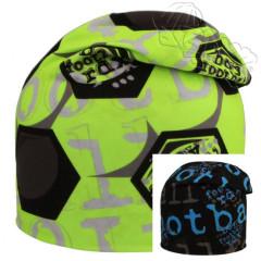 Oboustranná čepice fotbalový míč zelená RDX