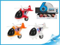 Helikoptéra kov 10cm se světlem a zvukem