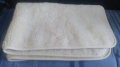 Oboustraná vlněná deka z ovčího rouna 100/135cm  BAZAR