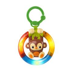 Hračka hudební, svítící na C kroužku Shake&Glow opička