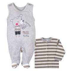 Kojenecká soupravička Bobas Fashion Perfect Baby hnědá Vel. 62