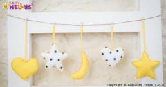 Sada dekorací Stars be Love Žlutá + bílá