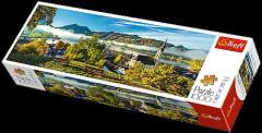 Puzzle Trefl Nad jezerem Schliersee 1000 dílků 97 x 34 cm