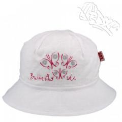 Dívčí klobouk s motýlky Bílý RDX