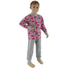 Bavlněné pyžamo růžový chameleon Esito