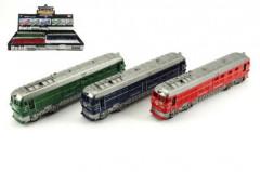 Vlak/Lokomotiva plast 23cm na setrvačník na baterie se zvukem se světlem