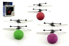 Vrtulníková koule plast 10cm s USB kabelem na nabíjení