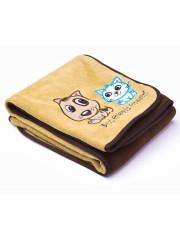 Dětská deka Sensillo Pejsek a Kočička 75x100 cm Brown