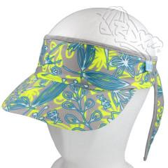 Funkční letní čelenka s kšiltem RDX tyrkysovo-žlutá