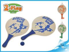 Plážová sada pálky 2-Play s míčkem