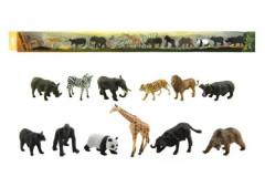 Zvířátka safari ZOO plast 6cm 12ks v tubě
