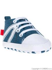 Dětské džínové capáčky Bobo Baby 3-6m světle modré