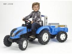 Traktor Landini šlapací s valníkem modrý Falk