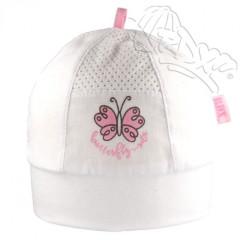 Lehká letní nasazovací čepička motýlek bílá RDX
