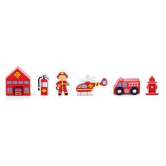 Dřevěné hasičské figurky Viga