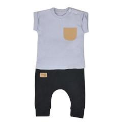 Kojenecké tepláčky a tričko Koala Summer Boy černo-šedé