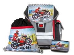 Školní aktovkový set ERGO ONE Rider 3-dílný Emipo