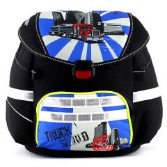 Školní batoh se svítícím elementem Leasyn - Truck - Smart Strap