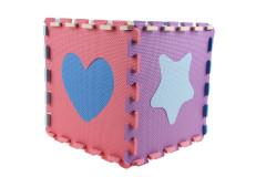 Pěnové puzzle podložka 32cm - tvary 10 ks