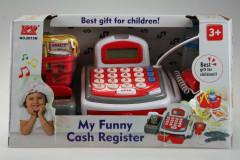 Registrační pokladna se čtečkou karet a mikrofonem bílá