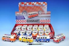 Autobus Kinsmart Volkswagen T1 Classical kovový 13 cm