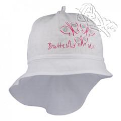 Dívčí letní klobouk s plachetkou Motýlci Bílý RDX