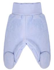 Fleecové polodupačky Baby Service Pinguin modré Bez rozepínání
