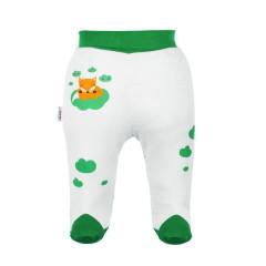 Kojenecké bavlněné polodupačky New Baby Liška zelená