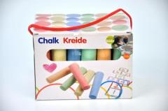 Křídy chodníkové barevné 24ks v krabičce