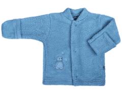 Fleecový kabátek Baby Service Pinguin petrolejový