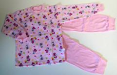 Bavlněné pyžamo růžové hrošíci vel. 104