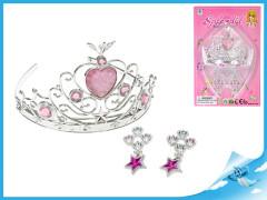 Korunka pro princeznu + náušnice na kartě
