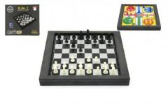 Soubor her 3v1 magnetické šachy+dáma+člověče, nezlob se