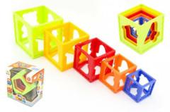 Kubus pyramida skládanka hranatá 5ks v krabičce 12m+