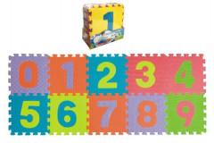 Pěnové puzzle čísla podložka 25 x 25 cm
