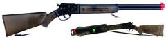 Puška kovbojská černá kovová - 8 ran