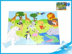 Puzzle zoo 35 dílků 60x44 cm