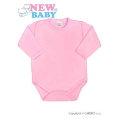 Kojenecké body celorozepínací New Baby Classic RŮŽOVÉ