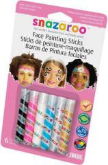 Obličejové barvy v tužce 6ks RŮŽOVÁ SADA