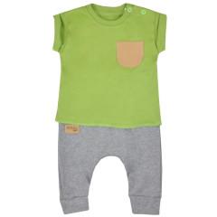 Kojenecké tepláčky a tričko Koala Summer Boy šedo-zelené