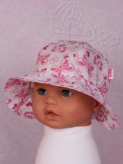 Dívčí klobouček s motýlky vel. 48