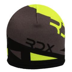 Zimní čepice s trojúhelníky fleece žluto-černá RDX