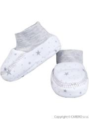 Kojenecké bavlněné capáčky Baby Service Hvězdy bílo-šedé