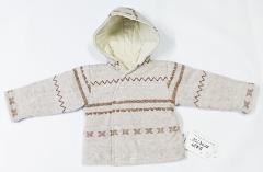 Zimní termokabátek norský vzor béžová Baby Service